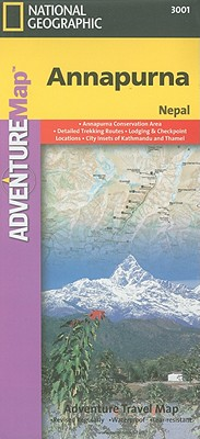 National Geographic Adventure Map Annapurna, Nepal